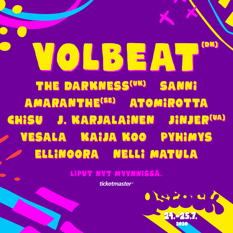 Volbeat Helsinki 2021